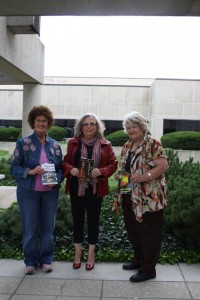 Janet Brown, me, and Galund Nuchols with our books that debuted at the Kansas Book Festival