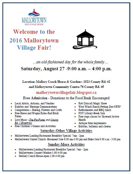 mallorytown village fair