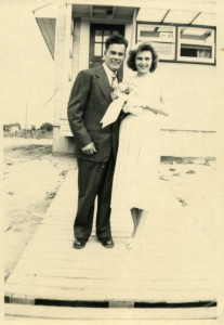 robert and ruth's wedding 1950