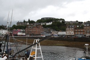 McCaig's Tower from the harbour