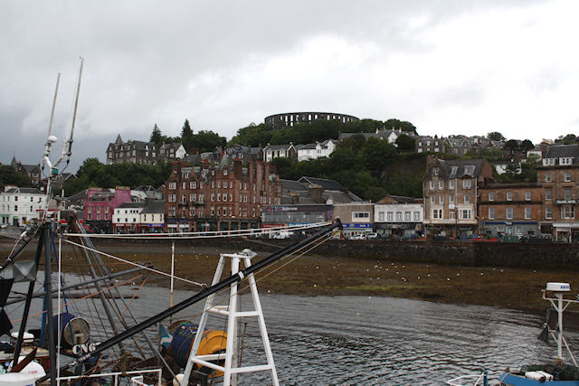 Oban - McCaig's Tower from the harbour