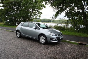 Our rental car at Loch Linnhe
