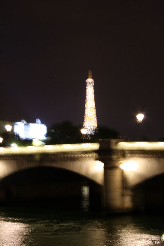Eiffel Tower glittering