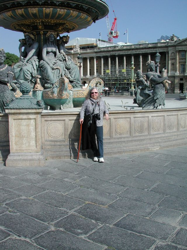 me at one of the fountains in place de la concorde