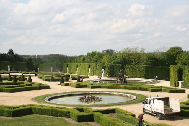A small portion of the gardens from one of the upstairs palace windows