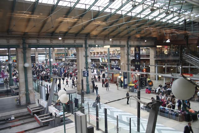 From the departure lounge at Gare du  Nord