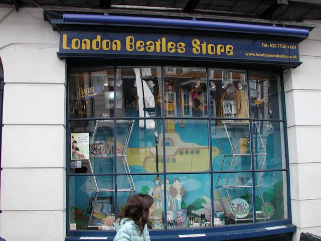 window in london beatles store on baker street 2