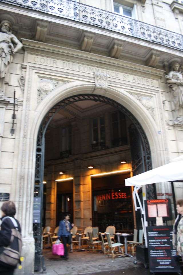 Entrance to Cour de Commerce St Andre at Bd Saint-Germain