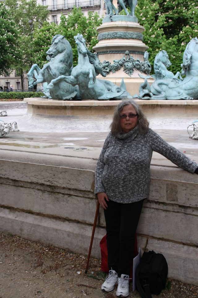 At one of the fountains in the Jardin du Luxembourg near Rue D'Assas