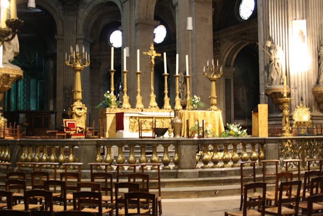Inside the Church of Saint Sulpice
