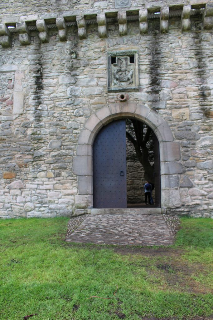 The entrance to Craigmillar Castle